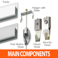 MAIN PICTURE HANGING SYSTEM COMPONENTS