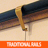 TRADITIONAL PICTURE RAIL HANGERS FOR THE GALLERY SYSTEM